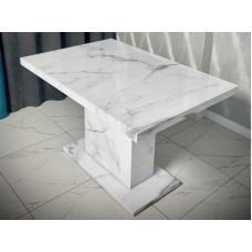Стол 3 D 1200х800 Белый мрамор моноопора