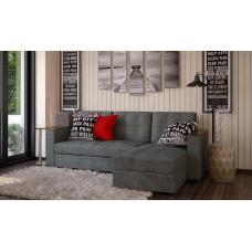 Диван угловой серый Атлант со столиком grey
