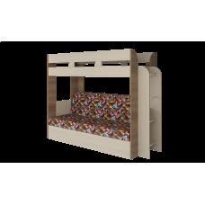 Кровать двухъярусная Карамель 75 Ясень Машинки