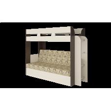 Кровать двухъярусная Карамель 75 Венге Газета