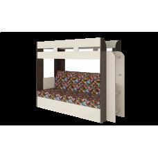 Кровать двухъярусная Карамель 75 Венге Машинки