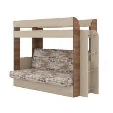 Двухъярусная кровать с диваном Карамель 75