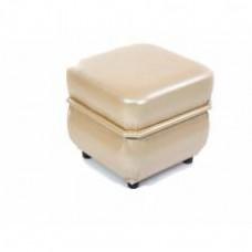 Пуф Призма квадратный молочный