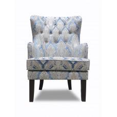 Кресло Альба белое с узором