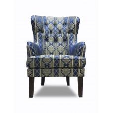 Кресло Альба синие узоры