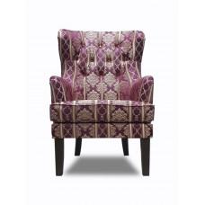 Кресло Альба красное с узорами