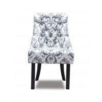 Кресло Софи белое с узором