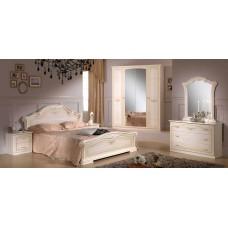 Спальный гарнитур Ирина Беж с 4 дверным шкафом