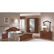 Спальный гарнитур Ирина орех с 4 дверным шкафом