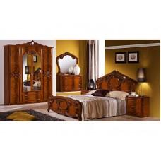 Спальный гарнитур Ольга орех (4-х дверный шкаф)