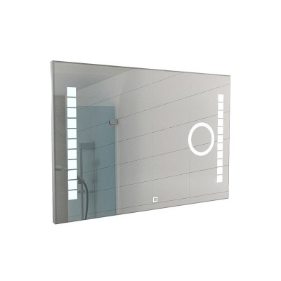 Зеркало Квадро Quadro 100 alum линза с подсветкой Sansa