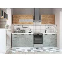 Кухня модульная Дуся дуб бунратти, цемент