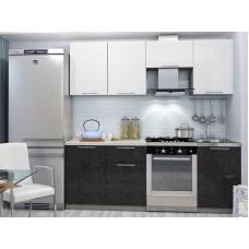Кухонный гарнитур Олива 2,1м (Белый + Черный)
