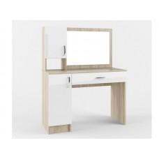 Стол макияжный с зеркалом одним ящиком и двумя дверками СМС1100.1