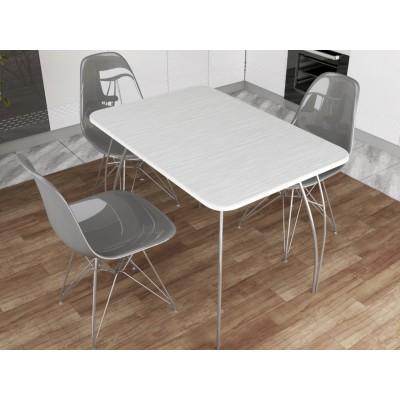 Стол обеденный Белый глянец 1000х690