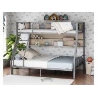 Двухъярусная кровать Гранада-1П 140 серая