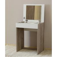 Туалетный столик Эксон Дуб крафт серый - белый