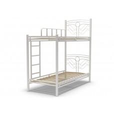 Кровать 90 ФАНТАЗИЯ-2 2-х ярусная белый глянец
