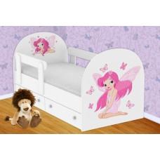 Детская кроватка с ящиками с фотопечатью