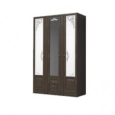 Шкаф 3-х дверный для платья и белья с выдвижными ящиками Ева-11