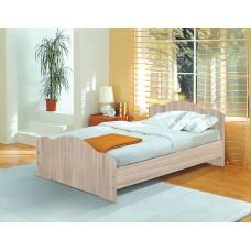 Кровать двойная 1200 ясень шимо светлый
