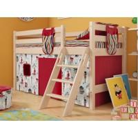Низкая кровать Соня с наклонной лестницей