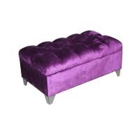 Банкетка с каретной стяжкой Ингола 18 фиолетовый
