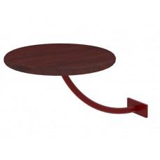 Полка прикроватная Милсон круглая коричневая