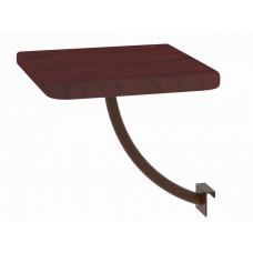 Полка прикроватная Милсон квадратная коричневая