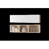 Шкаф настенный Скайлайн 1200 с дверкой белый шагрень