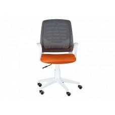 Кресло Ирис white стандарт черный/оранжевый