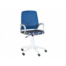 Кресло Ирис white kids стандарт синий-Т-55