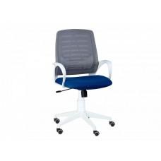 Кресло Ирис white стандарт черный/синий
