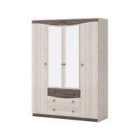 Шкаф для одежды 4-х дверный с зеркалом Шк98 Ванесса