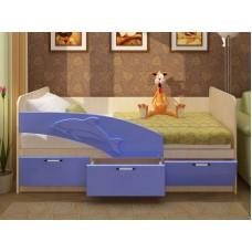 Кровать Дельфин МДФ 1.6 (фасад 3D)