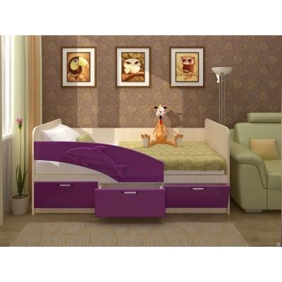 Кровать Дельфин МДФ 1.8 (фасад 3D)