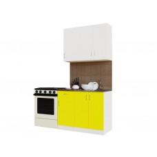 Гарнитур кухонный Санвут ГК1000-5.5_10.1 Белый/белый/желтый,венге