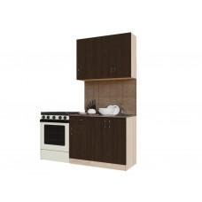Гарнитур кухонный Санвут ГК1000-1.3.1 Венге/шимо светлый, венге