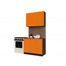 Гарнитур кухонный Санвут ГК1000-3.13.1 Венге/оранж, венге