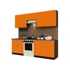 Гарнитур кухонный Санвут ГК2400-3.13.1 Венге/оранж, венге