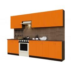 Гарнитур кухонный Санвут ГК3000-3.13.1 венге/оранж, венге
