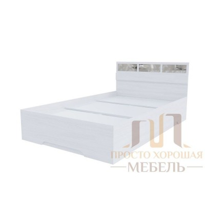 Кровать 1600 со стеклами Николь 1