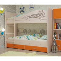 Двухъярусная кровать Мая Сафари