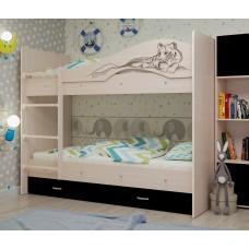 Двухъярусная кровать Мая Сафари венге