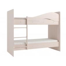 Двухъярусная кровать Мая без ящиков на латофлексах дуб млечный