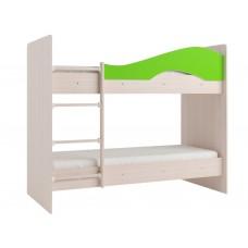 Двухъярусная кровать Мая без ящиков на латофлексах лайм