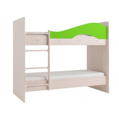 Двухъярусная кровать Мая без ящиков на щитах