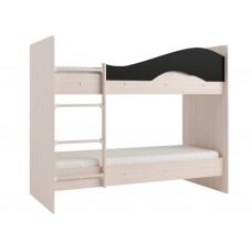 Двухъярусная кровать Мая без ящиков на латофлексах венге