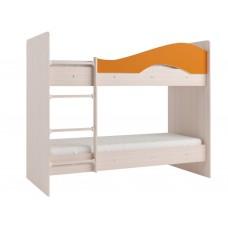 Двухъярусная кровать Мая без ящиков на латофлексах оранж