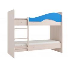Двухъярусная кровать Мая без ящиков на латофлексах синий
